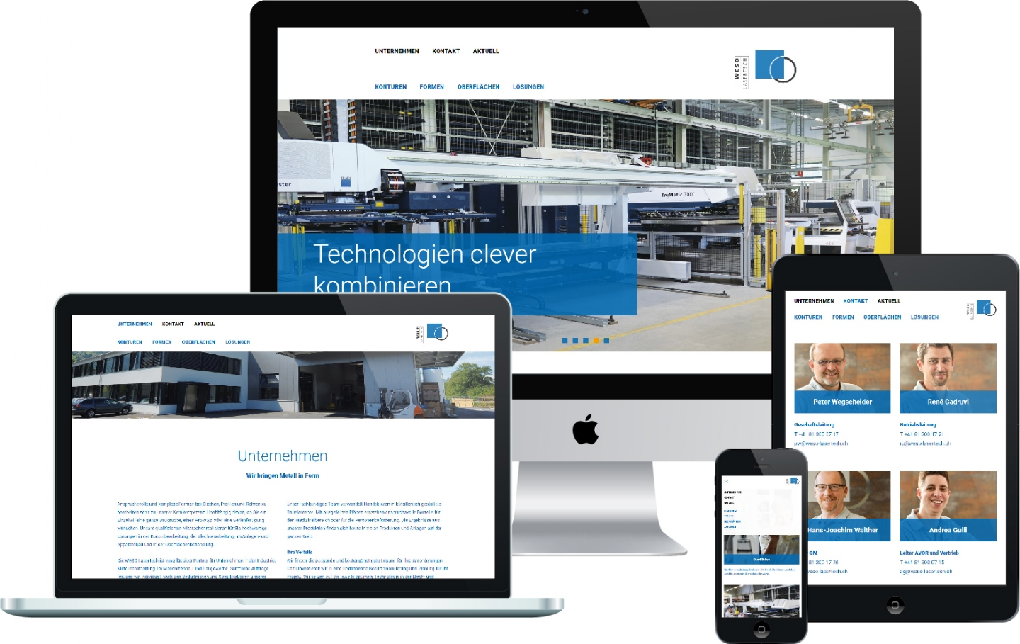 WESO Lasertech AG - Responsive Website, CMS